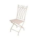 Sedia con seduta quadrata in metallo anticato