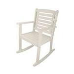 Sedia dondolo in legno bianca