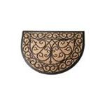 Zerbino gomma semicircolare con stoino