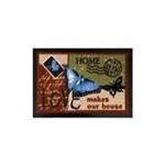 Zerbino farfalla in cartolina
