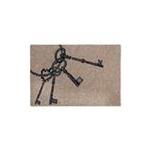 Zerbino in cocco mazzo di chiavi